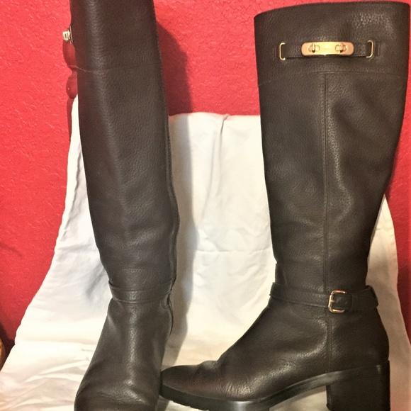 c1c2f0c5757 COACH Shoes - COACH Sullivan Brown Pebble Leather RIDING BOOTS!